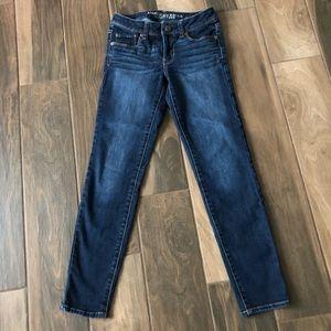 American Eagle super skinny denim jeans 0